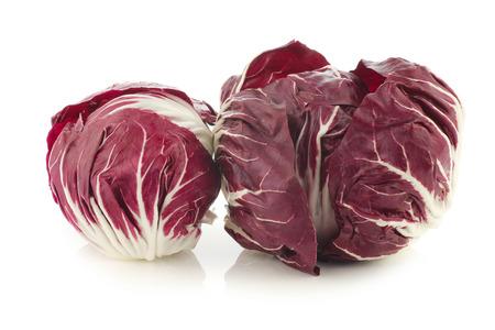 radicchio: red radicchio lettuce on a white background