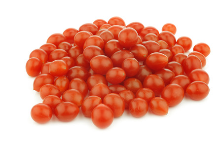 plant antioxidants: Tomberry fresh tomatoes very small on a white background