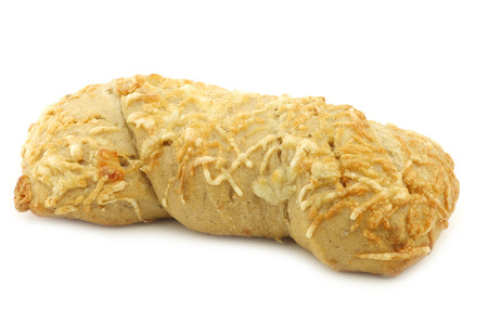 spelled: freshly baked spelled bread covered with grated cheese