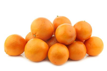 bunch of fresh blood oranges on a white background 版權商用圖片