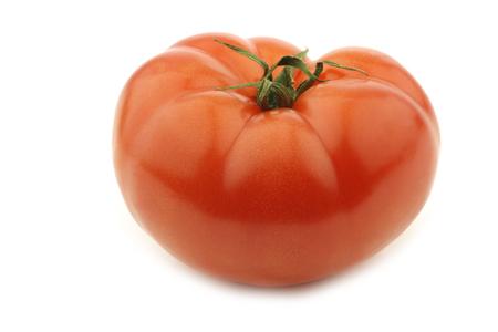 fresh beef tomato on a white background