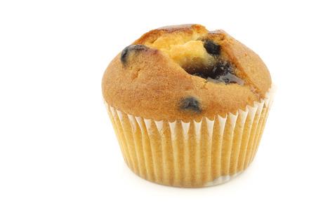 tasty blueberry muffin on a white background 版權商用圖片