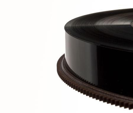 Closeup on reel of black magnetic tape used for backup Stock Photo - 7258280