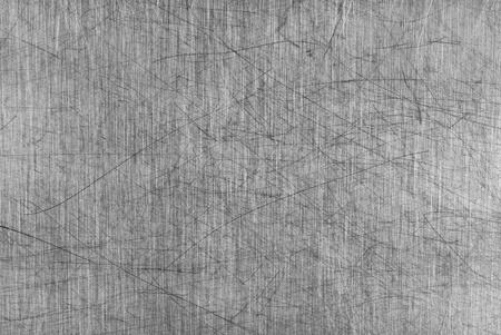 kratzspuren: Alte grau-Aluminium Tischplatte Endst�ck mit einer Menge von Kratzern