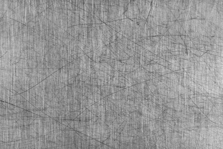 Old Grey Aluminium Table Board with a lot of scratches photo
