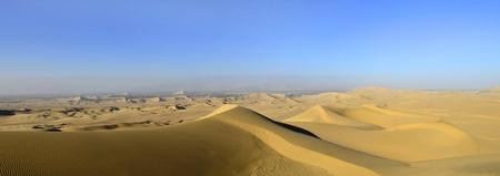 Stitched Panorama of Sand Dune Atacama Desert in Peru