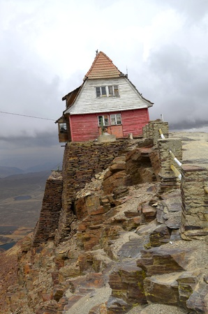 oldest: Ski Hut on Chacaltaya mountain. Oldest ski lift in South America