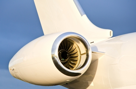 Jet Engine on a Private Plane - Bombardier Global Express