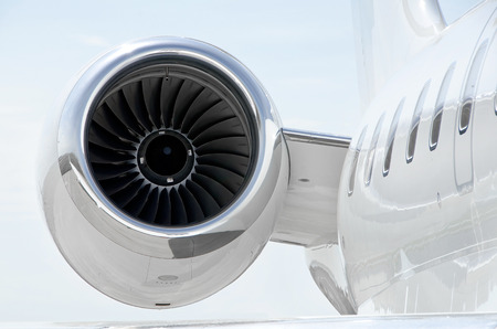 Jet Engine with on a luxury private aircraft - Bombardier Global Express