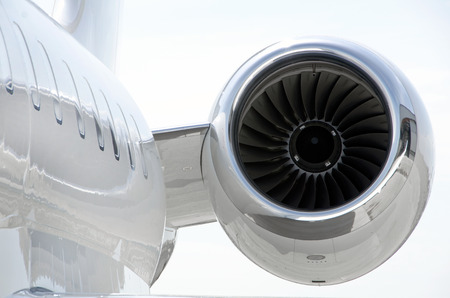 bombardier: Jet Engine on a modern luxury private aircraft - Bombardier Global Express