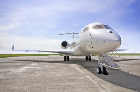 runway: Luxury Private Jet Airplane for business flights
