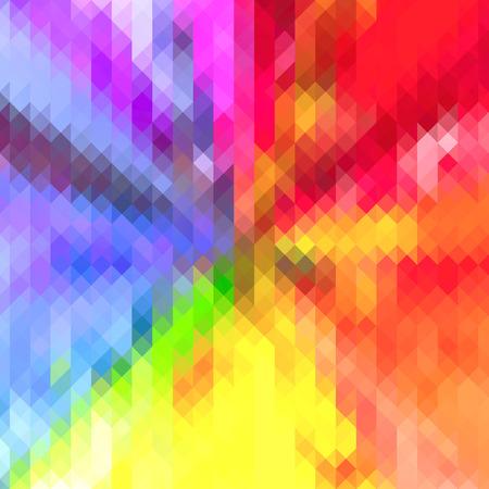 fondo geometrico: Tri�ngulo del arco iris de colores de fondo geom�trico. Forma de estrella