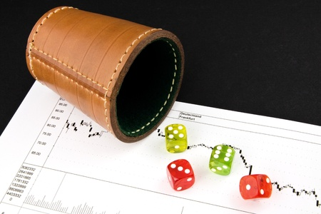 deserve: Game Dice on a stock chart