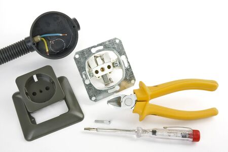 modernize: Electrician tool on a white background Stock Photo