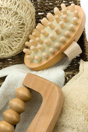 Various items for a massage Stock Photo
