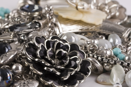 A macro shot of fashion jewelry