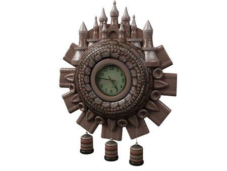 Antiquarian Clock Stock Photo