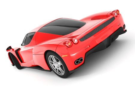 Red Super Car Stock Photo - 6014285