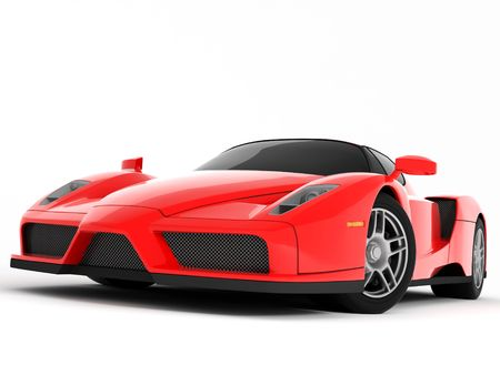 enzo: Red Super Car Stock Photo