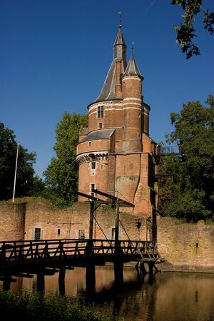 A Netherland Castle surrounded by a moat.