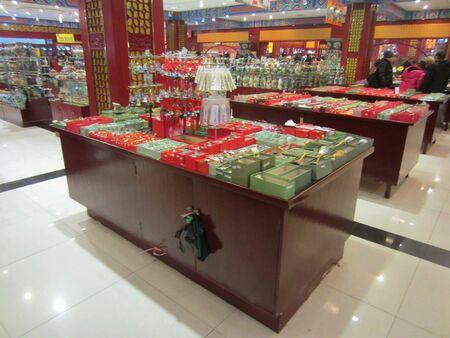 souvenirs: Souvenirs shop in China Stock Photo