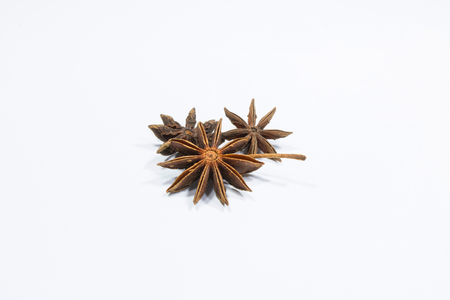 star anise isolate white background