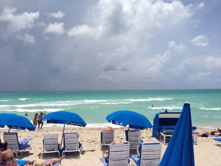 Miami beach right before a storm