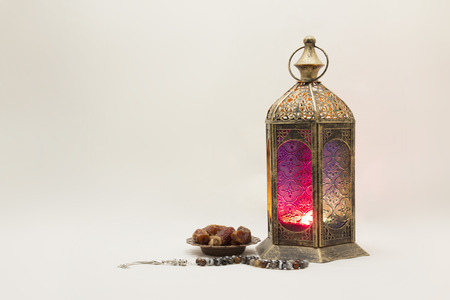 Ramadan Kareem: Collection of Lantern with Dates and Rosary, u can use it as Greeting Card