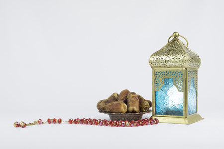 Traditional Lantern, Dates fruits and red rosary