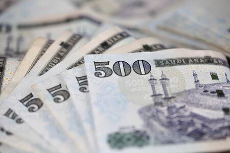Close-up Saudi Riyal notes