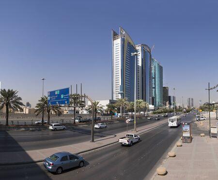 Riyadh, Saudi Arabia,November 11, 2017, King Fahd Road, in scene : Damac Hotel and resort