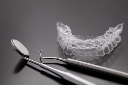 Invisible dental teeth brackets tooth aligners Invisalign