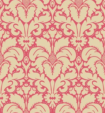 Bezszwowe barokowym stylu adamaszku tła  Ilustracja