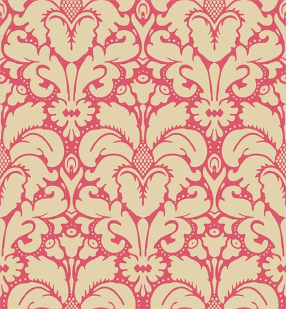 Seamless baroque style damask background Vector