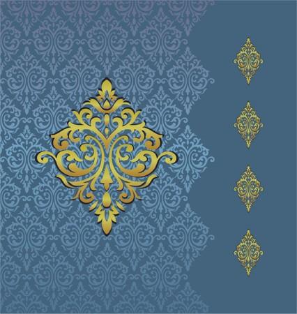 Vintage ornamental background Vector