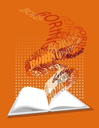 Abstract book ilustration Stock Vector - 6657165
