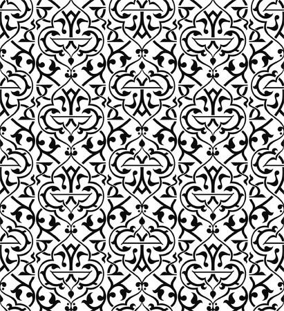 arabisch patroon: Naadloze arabesque-achtergrond  Stock Illustratie
