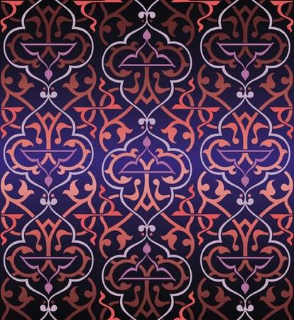 Bezszwowych Arabeska kolorowe tło  Ilustracja