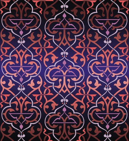 arabesque wallpaper: Seamless colorful  arabesque background Illustration