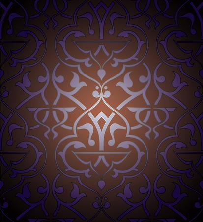 Seamless colorful  arabesque background Illustration