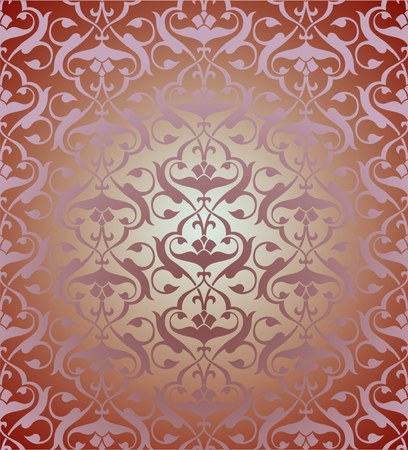 Seamless colorful  arabesque background Vector