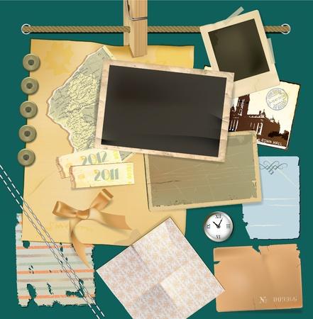 ephemera: Scrapbook dettagli Vettoriali
