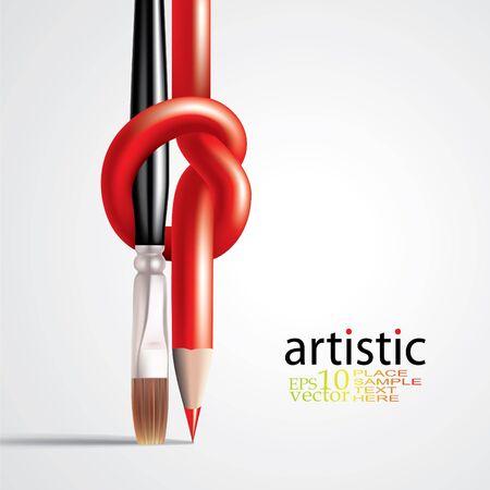 Arte concepto creativo tepmlate
