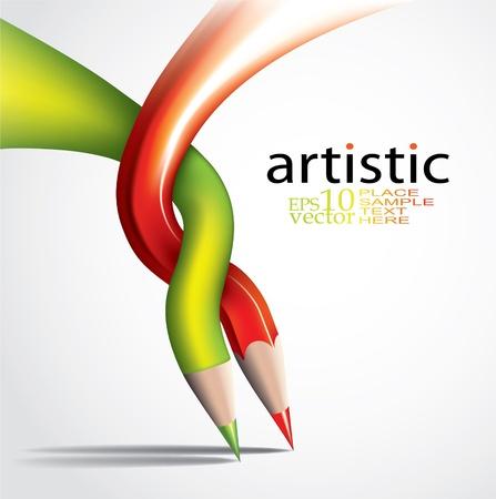 Concept Art-twórcze tepmlate Ilustracja