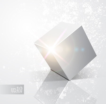 Shiny cube design Stock Vector - 10573444