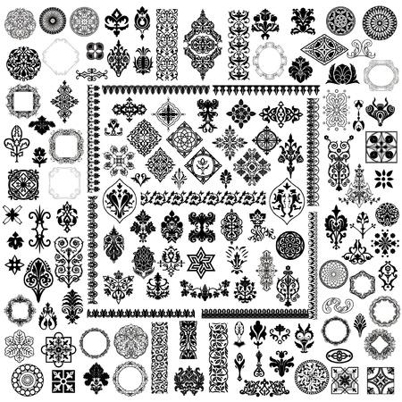 100 verschillende stijl ontwerpelementen