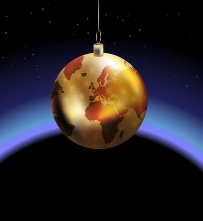 Globe bauble concept Stock Vector - 10751893