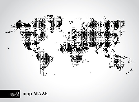 lost world: Earth maze map  Illustration