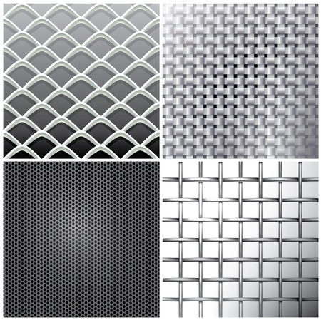 Metallic mesh set Stock Vector - 11312910