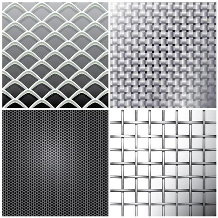 metal grid: Metallic mesh set